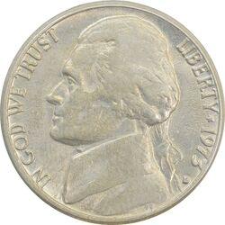 سکه 5 سنت 1973D جفرسون - EF45 - آمریکا