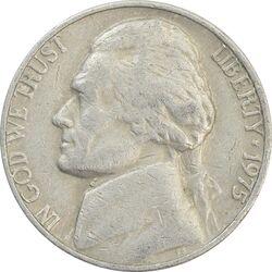 سکه 5 سنت 1975 جفرسون - VF35 - آمریکا