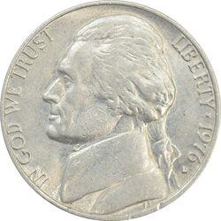 سکه 5 سنت 1976S جفرسون - AU - آمریکا