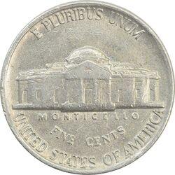 سکه 5 سنت 1984 جفرسون - EF40 - آمریکا