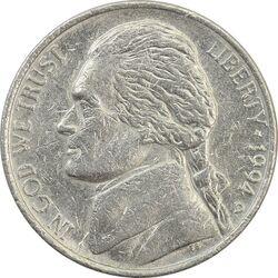 سکه 5 سنت 1994D جفرسون - VF35 - آمریکا