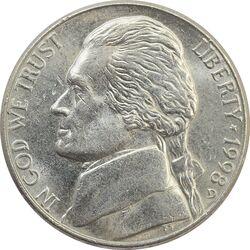 سکه 5 سنت 1998D جفرسون - MS62 - آمریکا