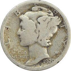 سکه 1 دایم 1920 مرکوری - VF20 - آمریکا