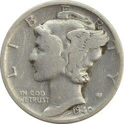 سکه 1 دایم 1940 مرکوری - VF25 - آمریکا