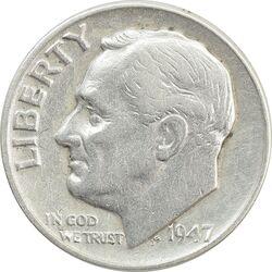 سکه 1 دایم 1947 روزولت - VF35 - آمریکا