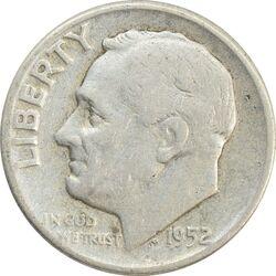 سکه 1 دایم 1952 روزولت - VF30 - آمریکا