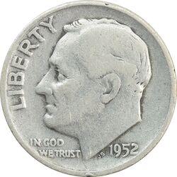سکه 1 دایم 1952D روزولت - VF25 - آمریکا