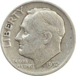 سکه 1 دایم 1952S روزولت - VF35 - آمریکا