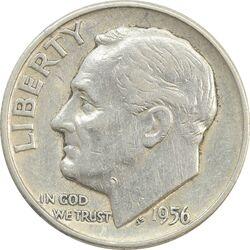 سکه 1 دایم 1956 روزولت - EF45 - آمریکا