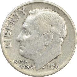 سکه 1 دایم 1956D روزولت - VF35 - آمریکا