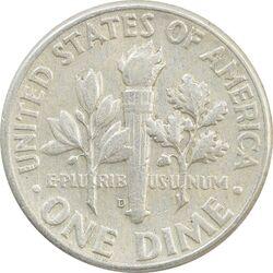 سکه 1 دایم 1963D روزولت - AU55 - آمریکا