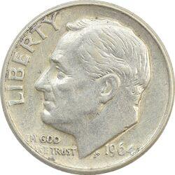 سکه 1 دایم 1964D روزولت - AU50 - آمریکا