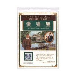 مجموعه سکه 1 دایم 1946 روزولت با تمبر 1982 - آمریکا