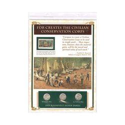 مجموعه سکه 1 دایم 1955 روزولت با تمبر 1983 - آمریکا