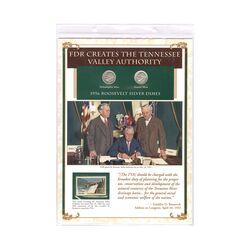 مجموعه سکه 1 دایم 1956 روزولت با تمبر 1983 - آمریکا