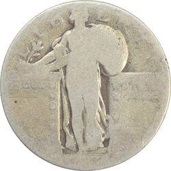 سکه کوارتر دلار تاریخ نامشخص - VG - آمریکا