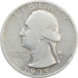 سکه کوارتر دلار 1935D واشنگتن - VF20 - آمریکا