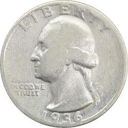 سکه کوارتر دلار 1936 واشنگتن - VF25 - آمریکا