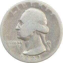 سکه کوارتر دلار 1941 واشنگتن - VF20 - آمریکا
