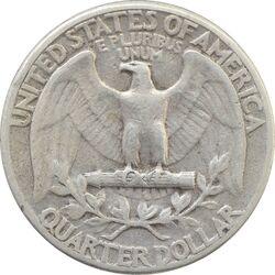 سکه کوارتر دلار 1943 واشنگتن - VF35 - آمریکا