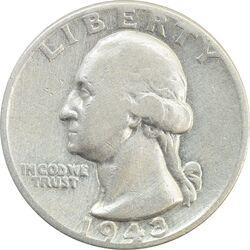 سکه کوارتر دلار 1943 واشنگتن - VF25 - آمریکا