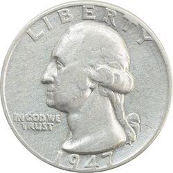 سکه کوارتر دلار 1947 واشنگتن - VF30 - آمریکا