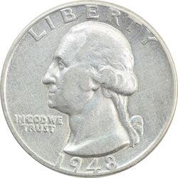 سکه کوارتر دلار 1948 واشنگتن - VF35 - آمریکا