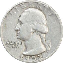 سکه کوارتر دلار 1952D واشنگتن - VF35 - آمریکا