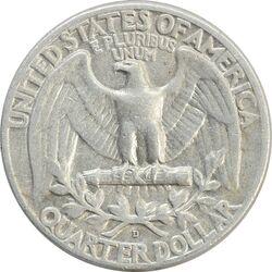 سکه کوارتر دلار 1958D واشنگتن - VF35 - آمریکا