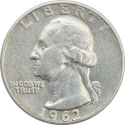 سکه کوارتر دلار 1962D واشنگتن - VF35 - آمریکا