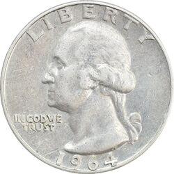 سکه کوارتر دلار 1964D واشنگتن - VF35 - آمریکا