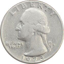 سکه کوارتر دلار 1973D واشنگتن - VF30 - آمریکا
