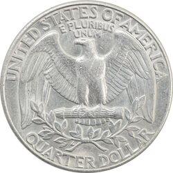 سکه کوارتر دلار 1989D واشنگتن - AU55 - آمریکا