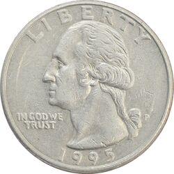 سکه کوارتر دلار 1995 واشنگتن - EF40 - آمریکا