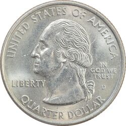 سکه کوارتر دلار 1999D ایالتی (کنکتیکت) - MS62 - آمریکا