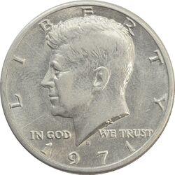 سکه نیم دلار 1971D کندی - EF45 - آمریکا