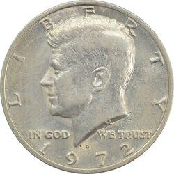 سکه نیم دلار 1972D کندی - AU50 - آمریکا