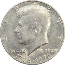 سکه نیم دلار 1976 جشن دویست سالگی کندی - EF45 - آمریکا