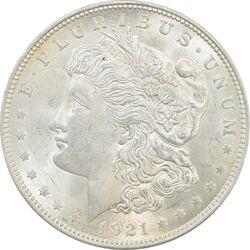 سکه یک دلار 1921 مورگان - MS63 - آمریکا