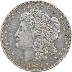 سکه یک دلار 1921 مورگان - VF35 - آمریکا