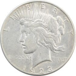 سکه یک دلار 1923S صلح - EF40 - آمریکا