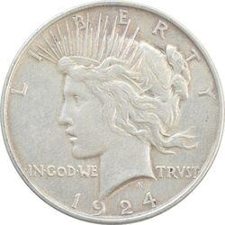 سکه یک دلار 1924 صلح - VF35 - آمریکا