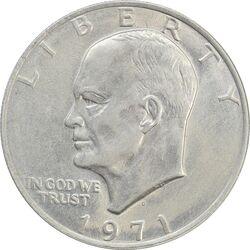 سکه یک دلار 1971D آیزنهاور - AU50 - آمریکا