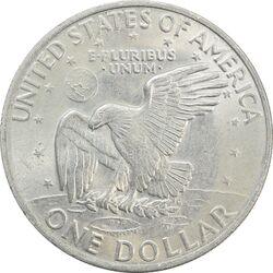 سکه یک دلار 1972 آیزنهاور - AU55 - آمریکا