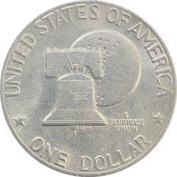 سکه یک دلار 1976 جشن دویست سالگی آمریکا - EF45 - آمریکا