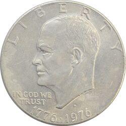 سکه یک دلار 1976 جشن دویست سالگی آمریکا - EF40 - آمریکا