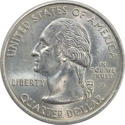 سکه کوارتر دلار 2001D ایالتی (کارولینای شمالی) - MS63 - آمریکا