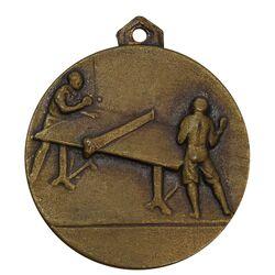 مدال آویز ورزشی برنز پینگ پنگ آموزشگاه کرمان - AU - محمد رضا شاه