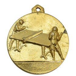 مدال آویز ورزشی طلا پینگ پنگ دانشگاه تهران - AU - محمد رضا شاه