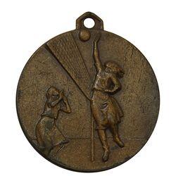 مدال آویز ورزشی برنز والیبال دختران - EF - محمد رضا شاه